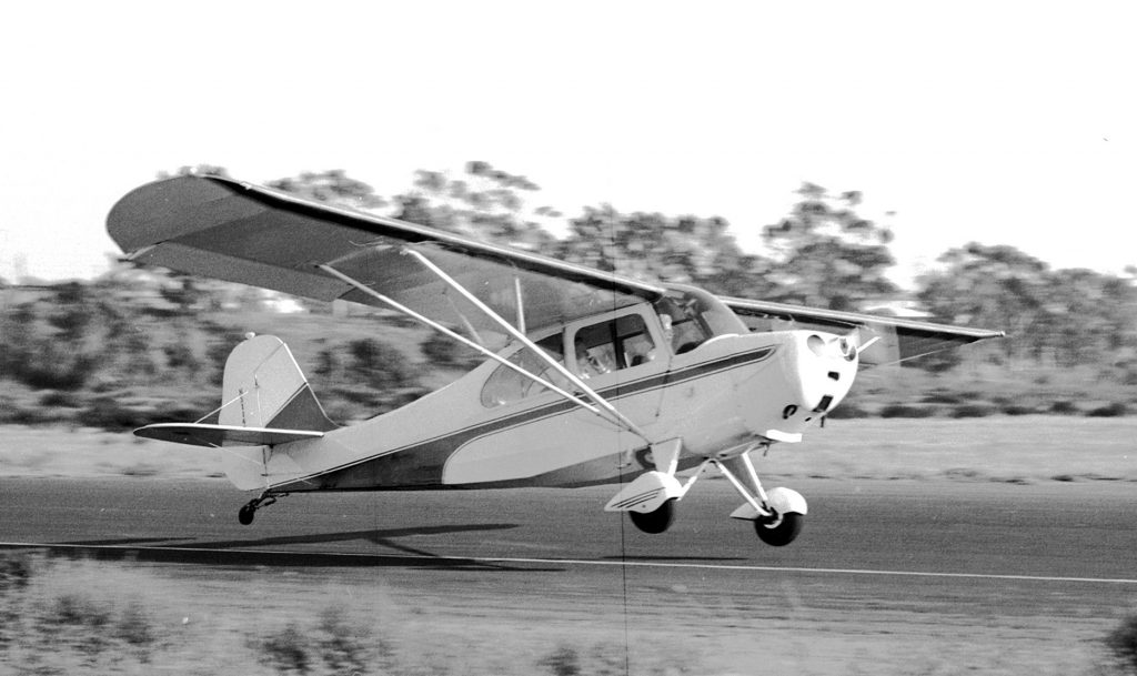 The Aeronca plane similar to the one Mona Sager flew when she was in her teens – photo Bill Larkins PHOTO BY PHOTOGRAPHER BILL LARKINS /Bill Larkins