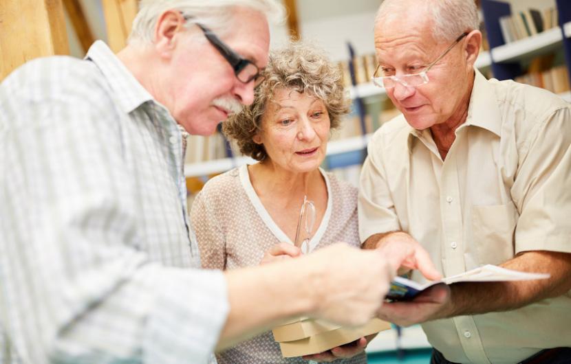 Seniors showing curiosity in something