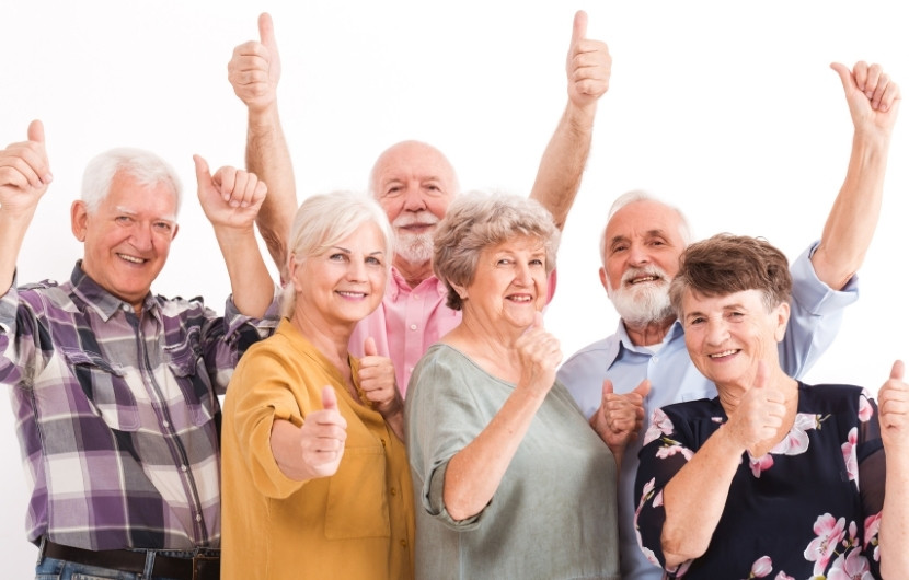 Photo of happy older adults